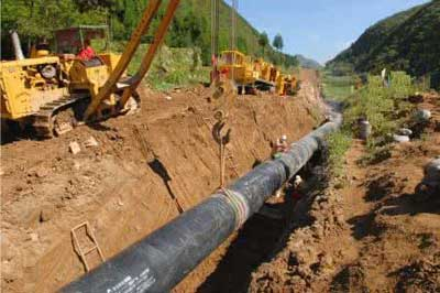 the process of pipelines built